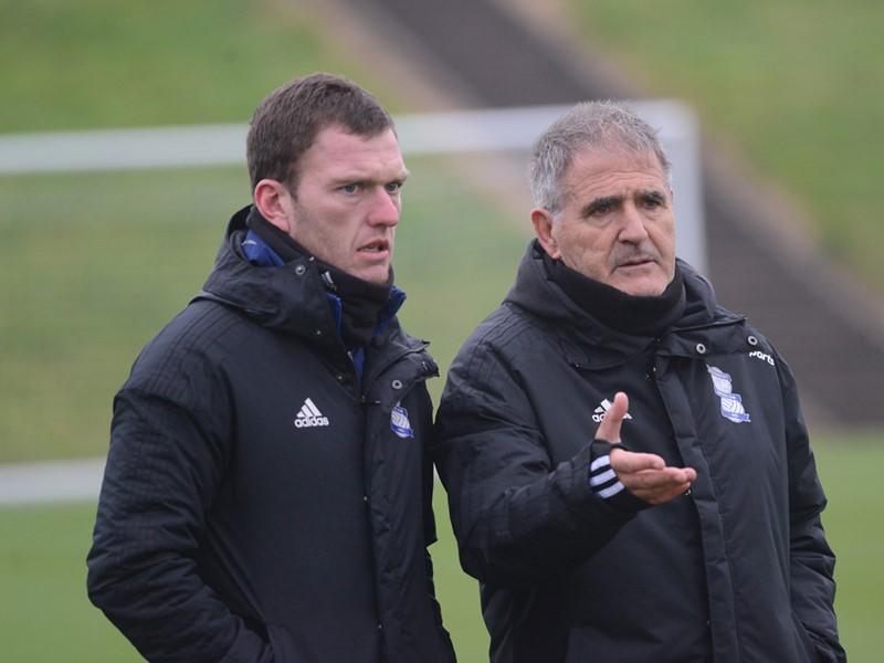 Craig Gardner with assistant Head Coach Paco Herrera.