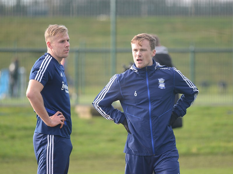 Marc Roberts and Maikel Kieftenbeld in training.