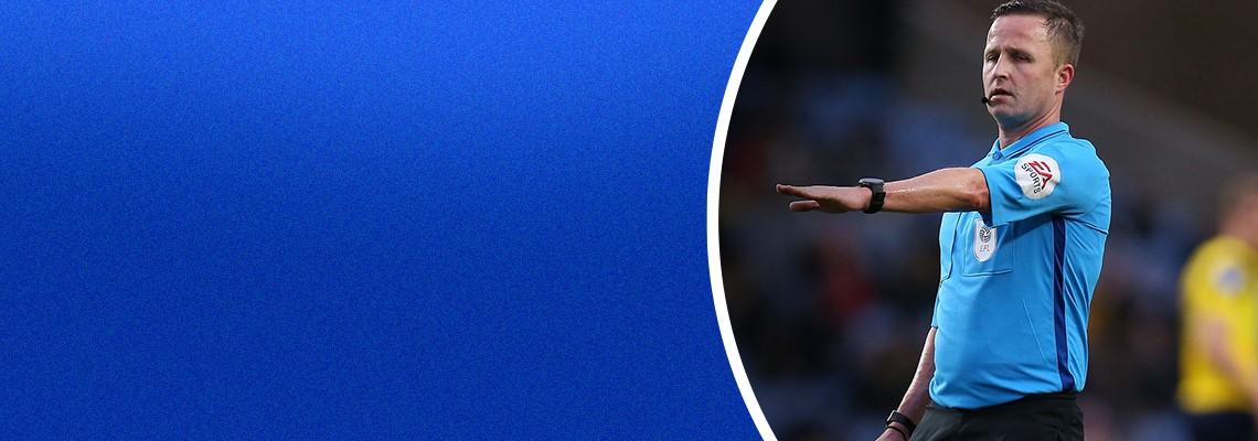 Referee David Webb.