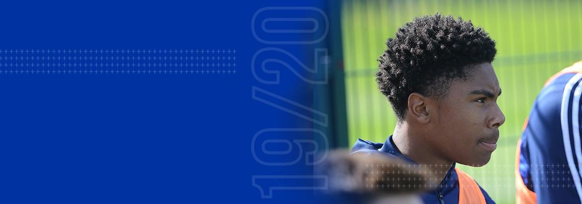 Blues goalscorer Amari Miller.