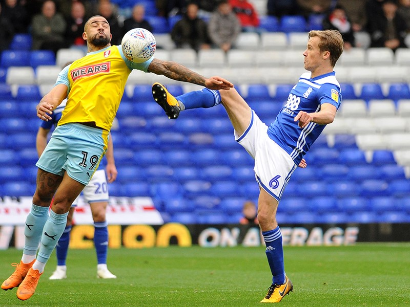 Maikel Kieftenbeld in action against Rotherham at the weekend.