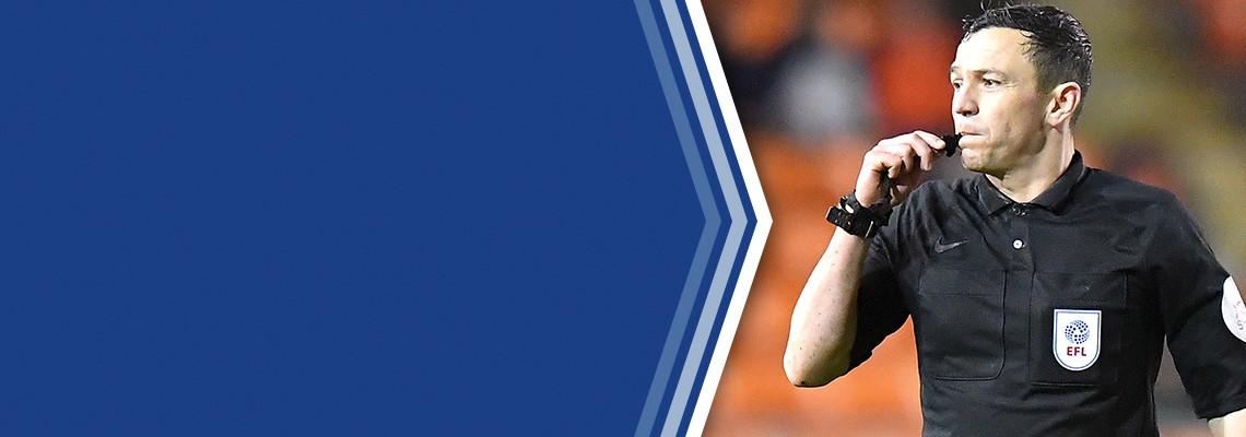 Referee Tony Harrington.