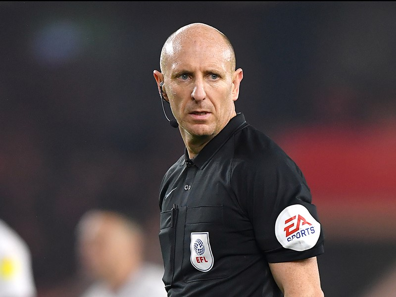 Referee Andy Davies.