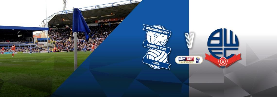 Blues v Bolton Wanderers ticket details