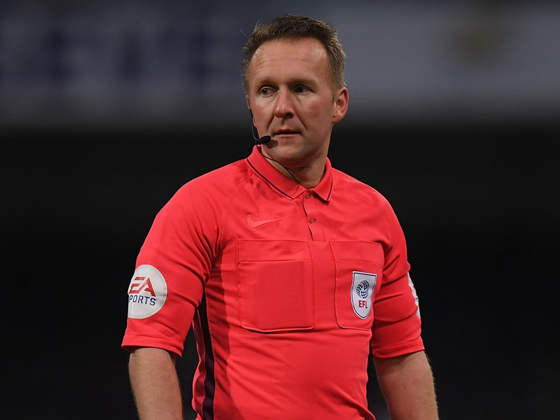 Referee Oliver Langford.