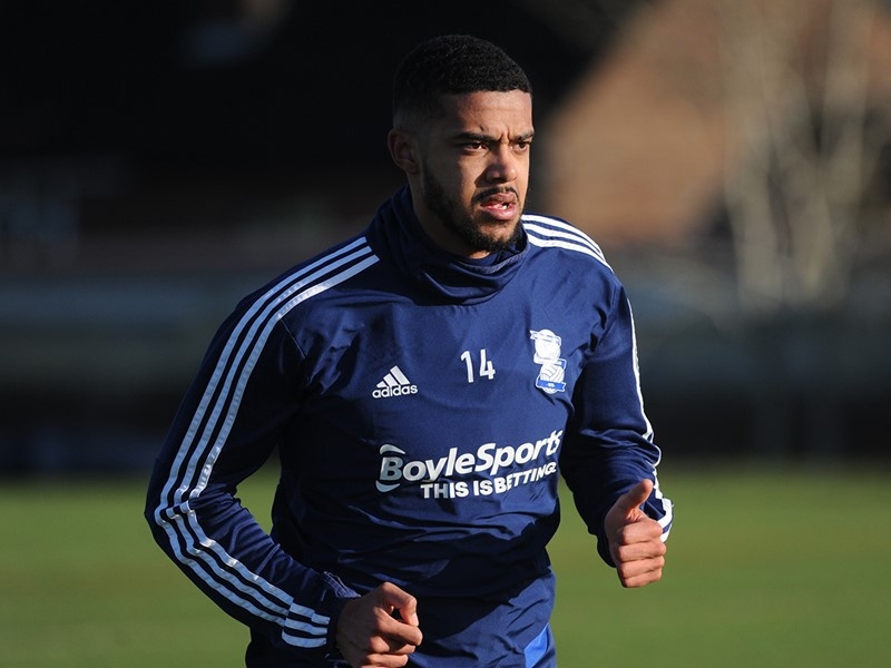 Jake Clarke-Salter pictured out on the training pitches on Monday.