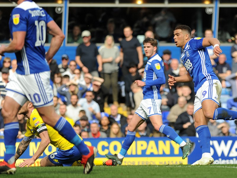 Che Adams fires home Blues' winner against the Whites.