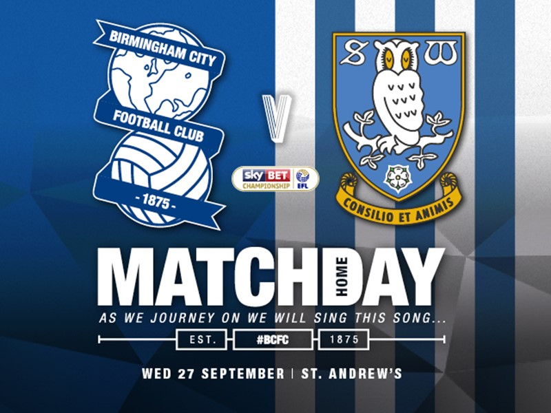 Blues v Sheffield Wednesday