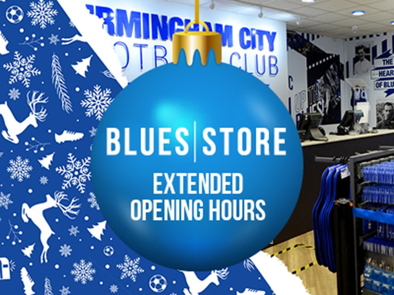Blues Store - extended Christmas opening hours