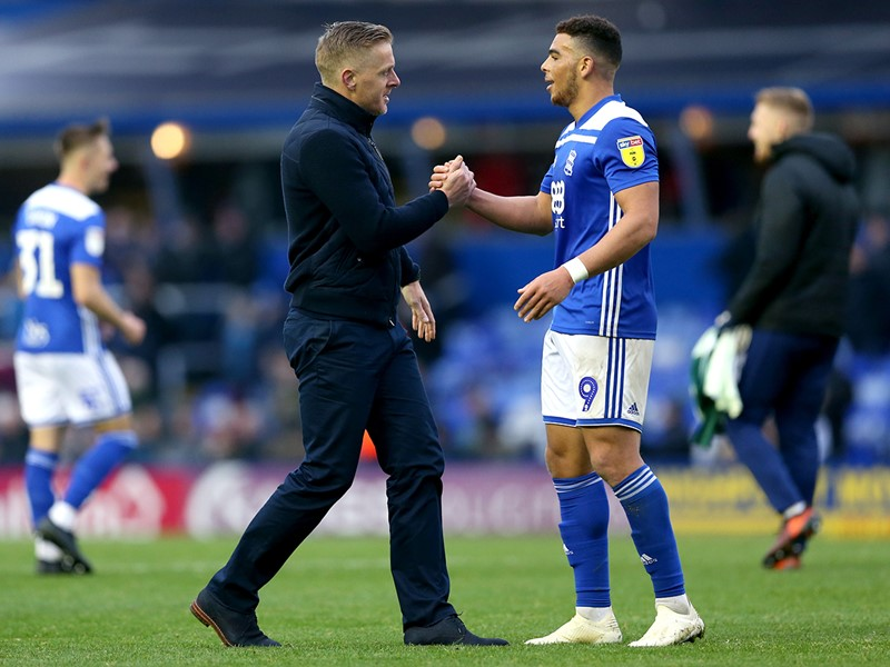 Garry  Monk and Che Adams.